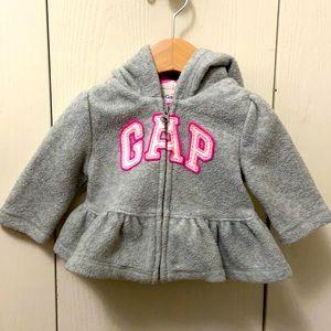GAP Grey & Pink Polar Fleece Hoodie
